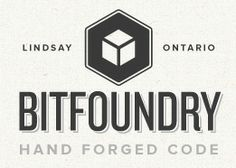 Bitfoundry, minimalist, subtle texture, slightly retro, nice portfolio and services pages