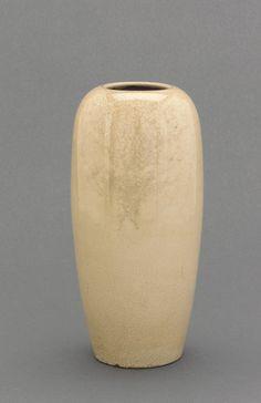 Satsuma ware vase  18th-19th century      Edo period or Meiji era     Stoneware with clear, colorless glaze  H: 20.3 W: 9.6 cm   Higashi Ichiki; Miyama, Japan