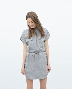 Image 1 of LINEN SHIRTDRESS BELT from Zara