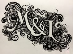 8 x 10 Custom Ink Initials or Name by ElleRae on Etsy, $100.00