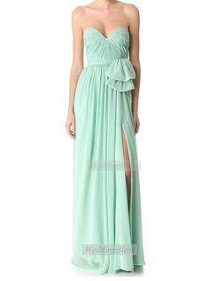 Mint Long Bridesmaid Dress Aline Bridesmaid by WeddingBless, $108.00