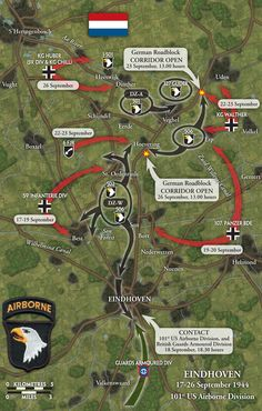 "The US 101st 'Screaming Eagles' Airborne Division jumped into Holland in a daylight aerial assault on 17 September 1944, north of Eindhoven.  The bridges assigned to the 101st Airborne at Best and Son were a full 8 miles north of Eindhoven.  They would later refer to the road between Best and Son as ""Hell's Highway."""