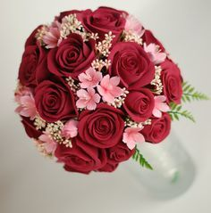 cherry blossom and carnation bridal bouquet - Google Search