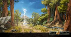 Dino Storm Concept Art 3 (DinoStorm.com - the free browser game with Cowboys. Dinosaurs. And Laserguns!)