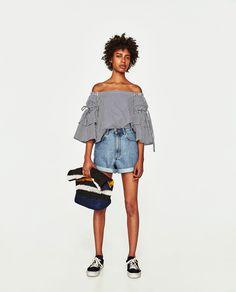 Image 1 of MOM FIT DENIM BERMUDA SHORTS from Zara