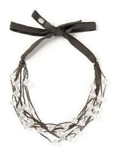 MARIA CALDERARA Jewelled Ribbon Necklace