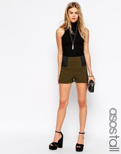 ASOS TALL Tailored Short with Elastic Sides