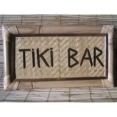 Here is a classic TIKI BAR sign made of Bamboo and is hand made. It has a bamboo framed, and backed with a woven mat. Measurement: 22 inches X 12 inches. Tiki Bar Decor and very Tropical!