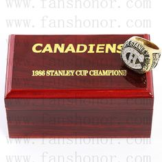 Custom NHL 1986 Montreal Canadiens Stanley Cup Championship Ring - Hockey