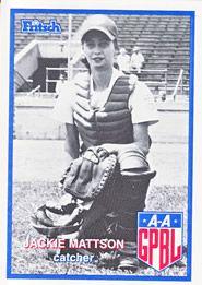 Jackie Baumgart - All American Girls Baseball League