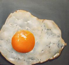 Fried Egg (c) Piskunov Sergey Hyperrealism, Saatchi, Fries, Eggs, Breakfast, Painting, Food, Morning Coffee, Egg
