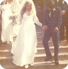 Such an ethereal image - beautiful! Likely 1970s wedding, given the style of the bride's dress and groom's suit. Image by becomeunreal (CC-BY-SA).