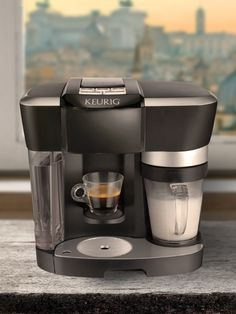 The Rivo Brewing System enables you to brew espresso, and froth any type of fresh milk at the touch of a button. Add over a century of roasting experience from Lavazza, and you have the perfect cappuccino or latte — simple, quick, and easy. That's revolutionary!