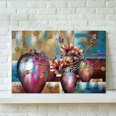 $7.12 AUD - Unframed Watercolor Flower Abstract Wall Oil Painting Canvas Print Home Decor #ebay #Collectibles
