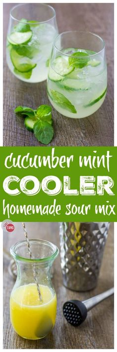 Check out this delightful Cucumber Mint Gin Cooler | Take Two Tapas