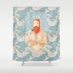 Buy Shower Curtains featuring Sailor by Seaside Spirit. Made from 100% easy care polyester our designer shower curtains are printed in the USA and feature a 12 button-hole top for simple hanging.