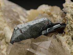 Hematite with Rutile on Quartz from Switzerland. Crystal Classics Minerals