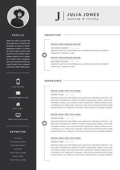 Cool Resume skills dark ideas Professional Resume Template & Cover Letter Icon b. -Professional Resume Template & Cover Letter Icon b. Cover Page Template, Resume Template Free, Free Resume, Modern Cv Template, Resume Layout, Resume Cv, Resume Ideas, Cv Resume Sample, Brochure Layout