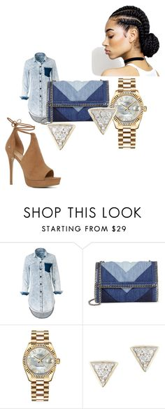 Total Jean by salonne on Polyvore featuring mode, ALDO, STELLA McCARTNEY, Rolex and Adina Reyter