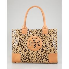 Tory Burch Leopard Print Tote Authentic Tory Burch leopard print tote. Excellent used condition. Tory Burch Bags Totes