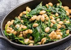 Have a bumper crop of greens? Here's a fast (less than 20 minutes!) weeknight meal, with protein, veggies and lots of flavor.