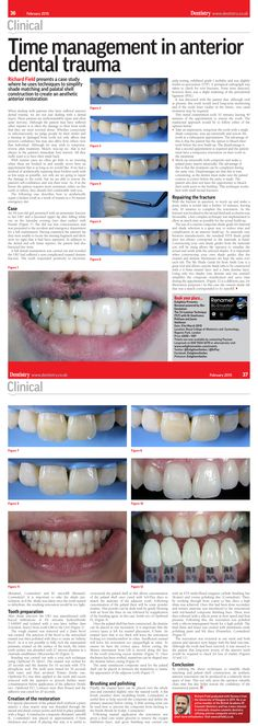 Clinical Article: Time management in anterior dental trauma - Dr Richard Field, Dentistry 1, February 2015