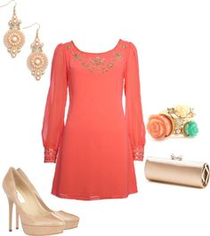 """""""Pretty in Coral"""" by melissa-delp on Polyvore"""