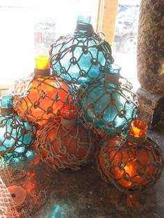 A string of these with LED lights inside to serve as lighting for your outdoor living space? Ship Salvage - Nautical Antique Warehouse