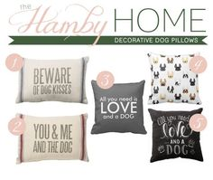 Decorative Pillows for Dog Lovers