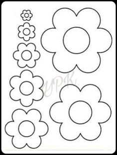 flowers - flowers Best Picture For crafts for teenagers For Your Taste You are looking for something, and i - Felt Flowers Patterns, Felt Crafts Patterns, Applique Patterns, Felt Flower Template, Felt Flower Tutorial, Flower Crafts, Diy Flowers, Paper Flowers, Easter Bunny Decorations