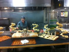 Bread towers from Footers Catering facility tour