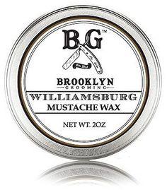 Smallflower Williamsburg Mustache Wax by Brooklyn Grooming (2oz Wax)