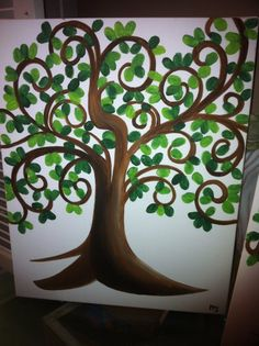 Fingerprint Tree - going to do this at the end of the year for my students!