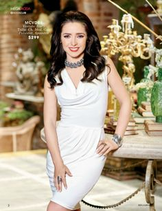 Ariadne Diaz luce un coqueto vestido en color Ivory Ariadne Diaz, Color Ivory, Outfits, Formal Dresses, Fashion, Templates, Dress, Fall Winter 2015, Modern Fashion