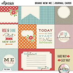 Brand New Me | Journal Cards