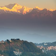 Mt. Kanchenjunga, Darjeeling, India, we had the view out of our bedroom window spectacular