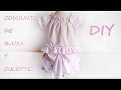 Conjunto de blusa y culotte: Costura para bebé. - Patronesmujer: Blog de costura, patrones y telas.