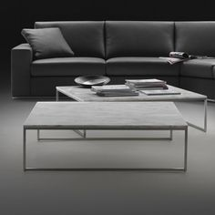 Porto Square Marble Coffee Table & Chrome - Top:  Polished Marble, various options  Base:  Metal, various options  Small:  W70 x D70 x H28cm  Medium:  W70 x D70 x H40cm  Large:  W100 x D100 x H28cm  Extra Large:  W100 x D100 x H40cm  Side Table:  W35 x D35 x H52cm  Origin:  Made in Italy  Lead Times:  usually 8-10 Weeks