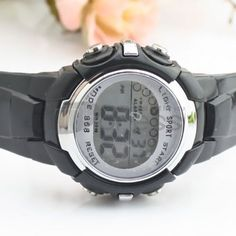 Black children electronic watches
