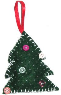 How to make Tree Ornament - Felt Christmas Tree - DIY Craft Project with instructions from Craftbits.com