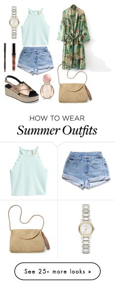 """""""Summer outfit"""" by darnelll on Polyvore featuring Mar y Sol, Levi's, Burberry and Bulgari"""