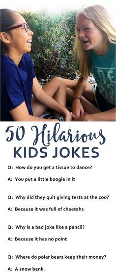 50 jokes appropriate for kids!