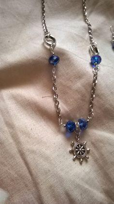 cuoridipezza: Collana e orecchini con cristalli turchesi
