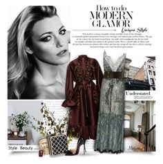 """Modern Glamor"" by thewondersoffashion ❤ liked on Polyvore featuring Prada, Sachin + Babi, Gucci, Johanna Ortiz, Christian Louboutin, Ann Taylor, modern, christianlouboutin, heritage and blakelively"
