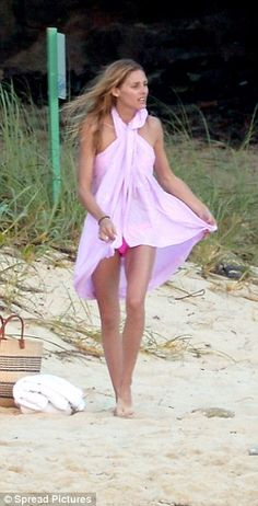 Olivia Palermo nails beach chic in magenta bikini and makeshift sarong dress as she frolics in St Barts with hunky husband Johannes Huebl - January 6, 2016 | Daily Mail Online