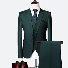 3 Piece Wedding Suits For Men Slim Fit Men's Suits Formal Burgundy Green Purple Yellow Red White Man Suit 3 pieces wedding suits for men slim fit men's suits formal burgundy green purple yellow red white man suit … Slim Fit Tuxedo, Slim Suit, Tuxedo For Men, Prom Suit Green, Dark Green Suit Men, Green Man, Mens Fashion Suits, Mens Suits, Zara Men