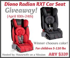 Diono Radian RXT Car Seat Giveaway - Queen of Savings - Product Reviews & Giveaways, Coupons, Daily Deals & Freebies