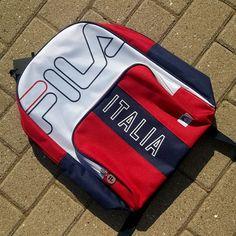 Lovely, practical and stylish. This smallish backpack from Fila Black Line