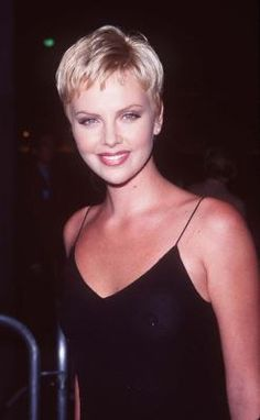 Charlize Theron 1997 - love the pixie cut :)