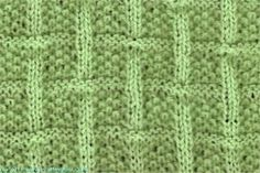 Square Lattice - Knittingfool Stitch Detail Free Knit Pattern